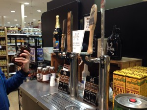 Beer on tap at THE GROCERY STORE?  What is this place, heaven?!