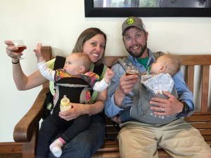 Cheers!  Babies on brew tours!