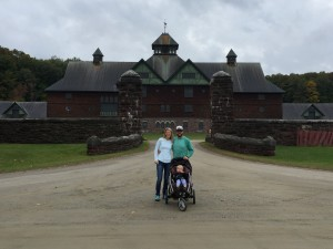 It rained all day on Friday, but that didnt stop us from visiting Shelburne Farms.