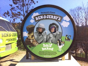 We visited Ben & Jerry's!