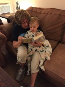 Night-night stories with Grandma.