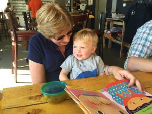 Grandma and Tyler at Storm Peak Brewing.