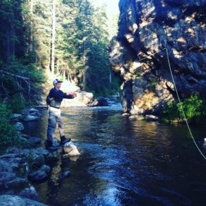 Eric and Andy went fly fishing.